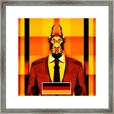 12 Doberman Framed Print by Gallini Design