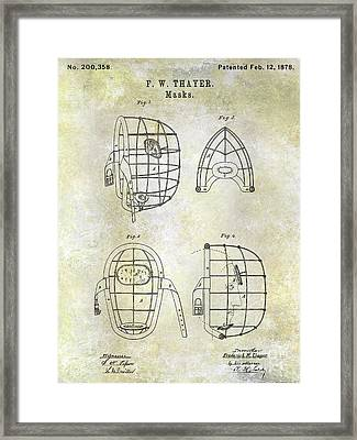 1878 Catchers Mask Patent Framed Print