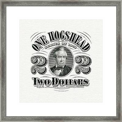 1878 Hogshead Beer Tax Stamp  Framed Print