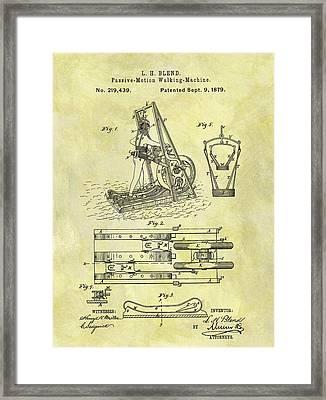 1879 Treadmill Patent Framed Print