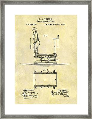 1880 Exercise Machine Patent Framed Print by Dan Sproul