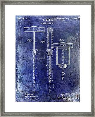 1882 Corkscrew Patent Framed Print by Jon Neidert