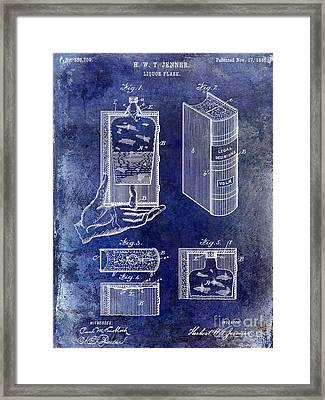 1885 Liquor Flask Patent Framed Print by Jon Neidert