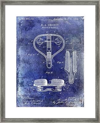 1898 Bicycle Saddle Patent Framed Print
