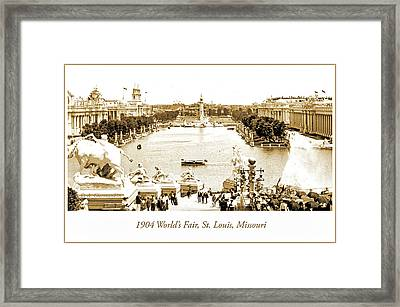 1904 World's Fair, Grand Basin View From Festival Hall Framed Print