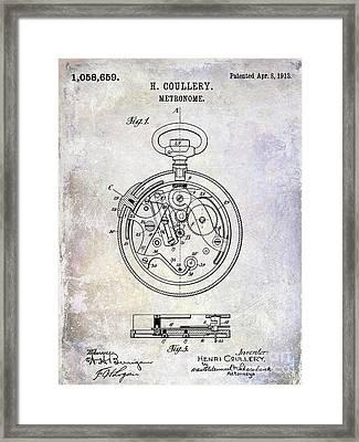 1913 Pocket Watch Patent Framed Print