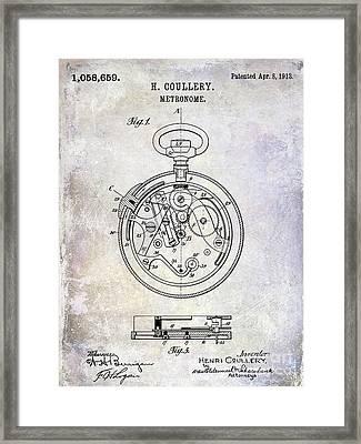 1913 Pocket Watch Patent Framed Print by Jon Neidert