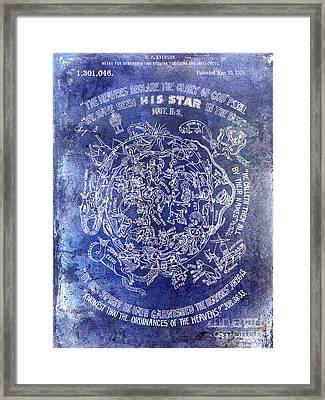 1919 Astrology Patent Blue Framed Print