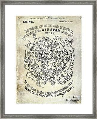 1919 Astrology Patent Framed Print