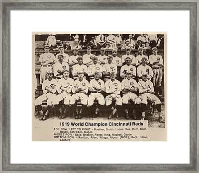 1919 World Champion Cincinnati Reds Framed Print