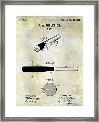 1920 Baseball Bat Patent Framed Print