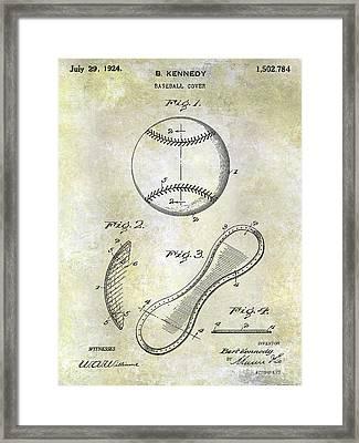 1924 Baseball Patent Framed Print