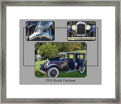 1924 Buick Duchess Antique Vintage Photograph Fine Art Prints 120    Framed Print by M K  Miller