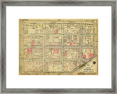 1927 Inwood Map  Framed Print