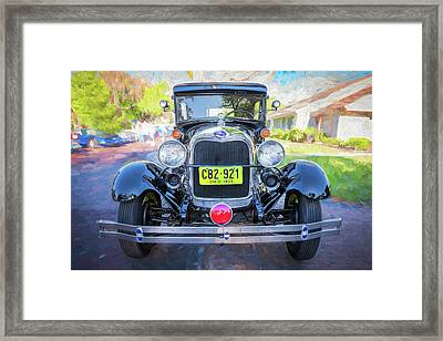 1929 Ford Model A Tudor Police Sedan  Framed Print by Rich Franco