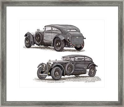 1930 Bentley Blue Train Coupe Framed Print by Jack Pumphrey