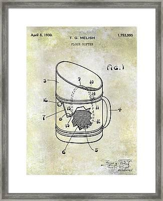 1930 Flour Sifter Patent Framed Print
