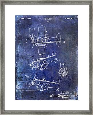 1931 Toy Airplane Patent Framed Print