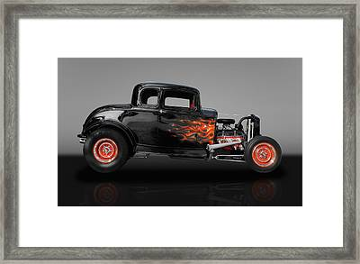 1932 Ford 5 Window Framed Print by Frank J Benz