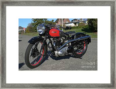 1934 Ariel Motorcycle Side View Framed Print by Robert Torkomian