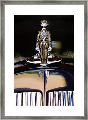 1934 Packard Hood Ornament 3 Framed Print by Jill Reger