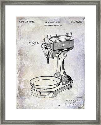 1935 Food Mixing Apparatus Patent Framed Print