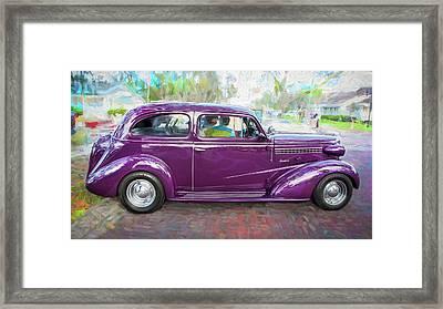 1938 Chevrolet 2 Door Sedan Deluxe C119 Bw Framed Print by Rich Franco