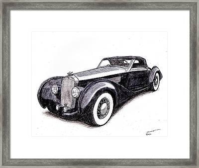 1938 Delage D8 120 Framed Print by Dan Poll