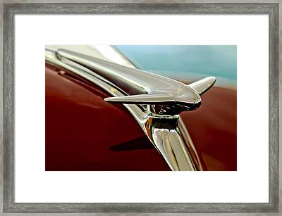 1938 Lincoln Zephyr Hood Ornament Framed Print by Jill Reger