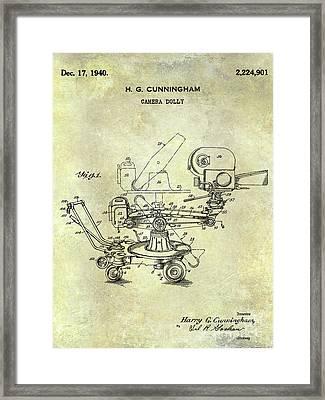 1940 Camera Dolly Patent  Framed Print