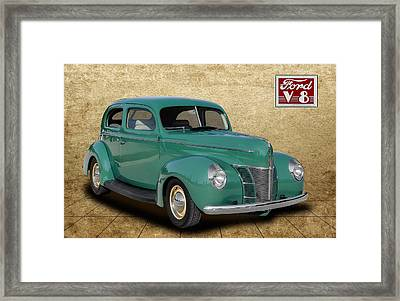 1940 Ford Coupe Framed Print by Frank J Benz