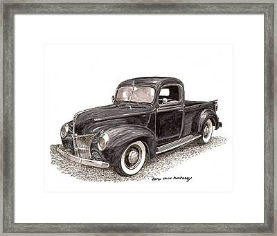 1940 Ford Pick Up Truck Framed Print by Jack Pumphrey