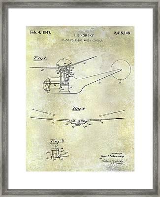 1947 Helicopter Patent Framed Print by Jon Neidert