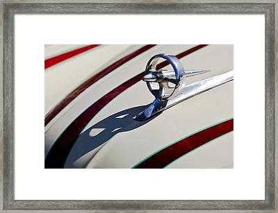 1949 Custom Buick Hood Ornament Framed Print by Jill Reger