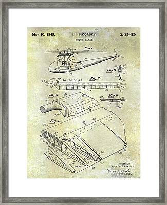 1949 Helicopter Patent Framed Print by Jon Neidert