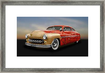 1950 Mercury Sedan  -  1950merc742 Framed Print by Frank J Benz