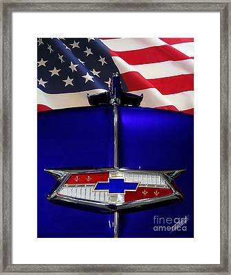 1954 Chevrolet Hood Emblem Framed Print by Peter Piatt