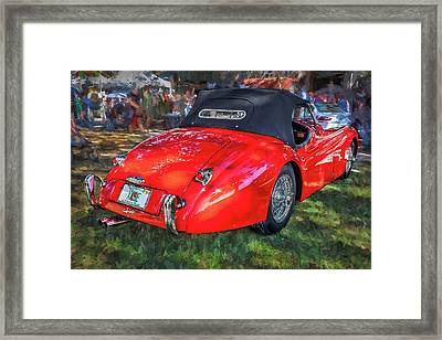 1954 Jaguar Xk 120 Se Ots  Framed Print by Rich Franco