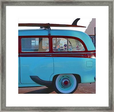 1954 Pontiac Chieftain Station Wagon Framed Print by Bill Owen