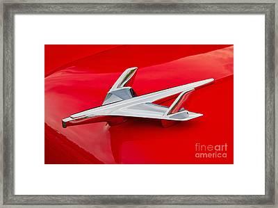 1955 Chevrolet Hood Ornament Framed Print