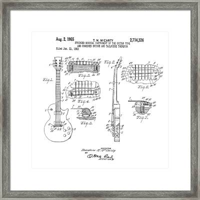 1955 Gibson Les Paul Patent Framed Print by Bill Cannon