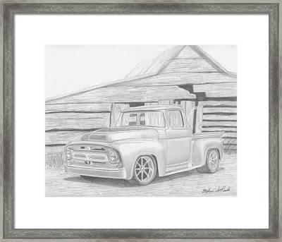 1956 Ford Pickup Truck Art Print Framed Print by Stephen Rooks