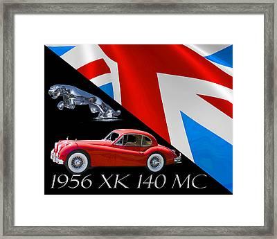 1956 Jaguar X K 140 M C Framed Print by Jack Pumphrey