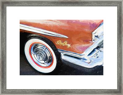 Framed Print featuring the photograph 1958 Pontiac Star Chief  by Rich Franco