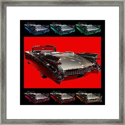 1959 Cadillac Eldorado Convertible . Wing Angle Artwork Framed Print by Wingsdomain Art and Photography