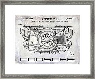 1962 Porsche Engine Patent Framed Print