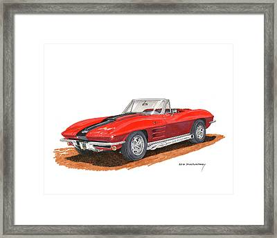 1963 Corvette Stingraw Roadster Framed Print by Jack Pumphrey