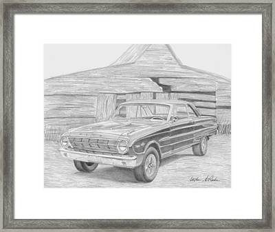 1963 Ford Falcon Classic Car Art Print Framed Print by Stephen Rooks