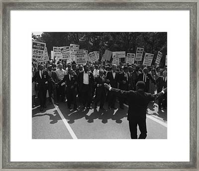 1963 March On Washington. Famous Civil Framed Print by Everett