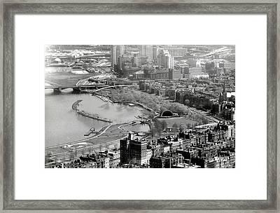 1965 Boston's Back Bay And Beacon Hill Framed Print
